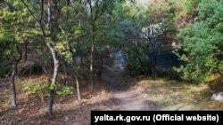 Парк Гаспры, через который предлагают ходить жителям поселка в обход санатория «Ясная поляна»