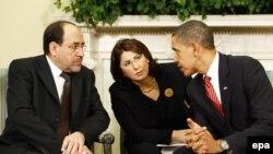 لقاء المالكي اوباما في واشنطن 2009