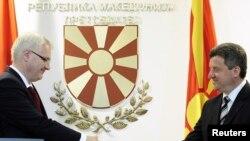 Predsednici Hrvatske i Makedonije, Ivo Josipović i Gjorge Ivanov 12. jul 2010.