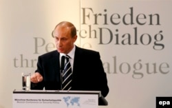 "At the 2007 Munich Security Conference, Putin denounced the United States as a dangerous hegemon that was ""plunging the world into an abyss of permanent conflict."""