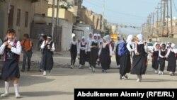 طالبات مدرسة ابتدائية في البصرة