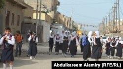 طالبات احدى المدارس الابتدائية في البصرة