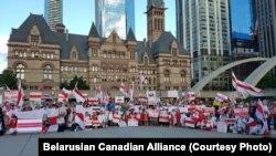 Акцыя беларусаў Канады. Таронта, 30 жніўня 2020 году