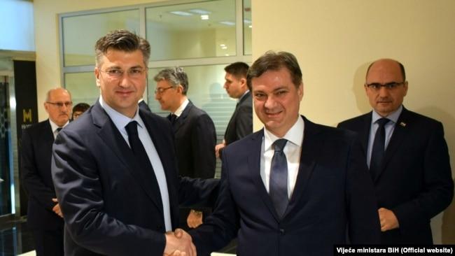 Andrej Plenković i Denis Zvizdić, Mostar