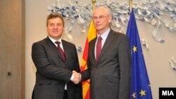 Средба на претседателот Ѓорге Иванов и Херман Ван Ромпуј претседател на Советот на Европската Унија, Брисел.