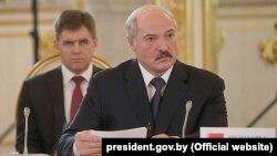 Аляксандар Лукашэнка падчас візыту Маскву, архіўнае фота