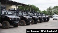 Бронированные полицейские автомобили, подаренные Китаем Кыргызстану. Бишкек. 3 июня 2019 года.