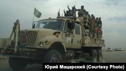 Боевой автомобиль шиитской милиции вблизи Мосула