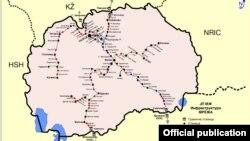 Железничка мрежа во Македонија.