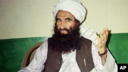 The group founded by Jalaluddin Haqqani (in a 1998 photo), is now considered the No. 1 threat to U.S. troops in Afghanistan.