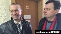 Рыгор Грык (справа) іАляксандар Вайцешык усудзе