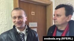 Баранавіцкія актывісты Аляксандар Вайцешык і Рыгор Грык у судзе