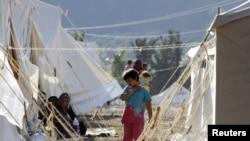 Лагерь сирийских беженцев на юге Турции.
