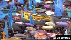 Массовая акция крымских татар по случаю 70-й годовщины сталинской депортации