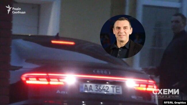 «Схеми» виявили, що цю Audi з номерами прикриття використовує перший помічник президента Зеленського Сергій Шефір