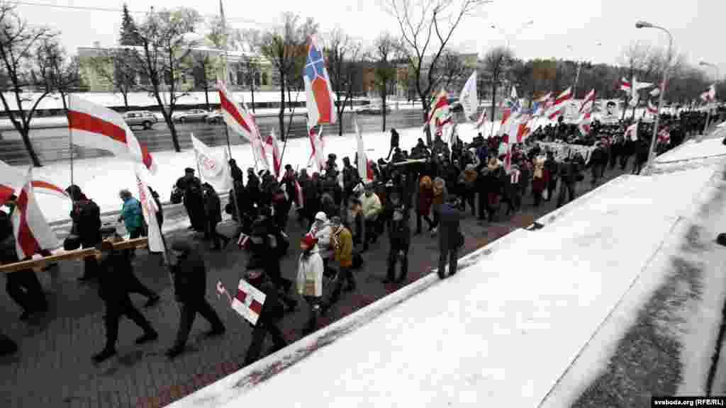 Anım günü yürüşü, Minsk