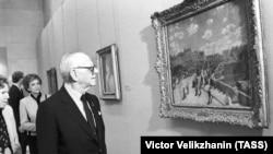 Арманд Хаммер в Москве на выставке в Пушкинском музее