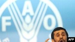محمود احمدی نژاد در اجلاس فائو. (عکس:AFP)