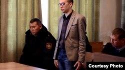 Блогер Игорь Сычев в суде по делу о призывах к сепаратизму. Риддер, Восточно-Казахстанская область.