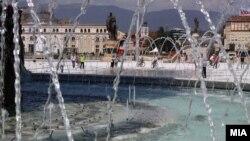 """Плоштадот """"Македонија"""" во Скопје"""