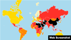 The 2017 World Press Freedom Index compiled by Reporters Without Borders