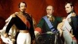 Наполеон III, Владимир Путин и Наполеон I, коллаж
