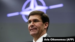 Acting U.S. Defense Secretary Mark Esper attends the NATO defense ministers meeting in Brussels on June 27.