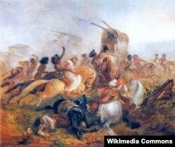 Иоганн Мориц Ругендас. Индейцы нападают на аргентинских солдат. 1846