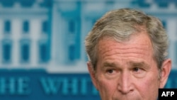 U.S. President George W. Bush speaks at his final press conference.