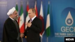 Hassan Rohani və Vladimir Putin