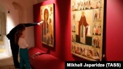 На выставке в Музее древнерусской культуры имени Андрея Рублева