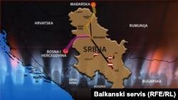 Postojeći gasovodi u Srbiji i BiH