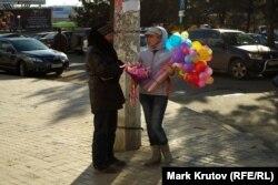 Восьмое марта в Донецке отмечают на широкую ногу