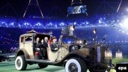 Момент церемонии закрытия Паралимпийских игр в Лондоне.