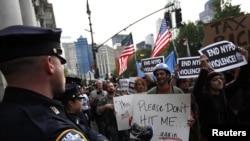 """Очередная акция движения """"Захвати уолл-стрит"""" в Нью-Йорке (19 октября)"""