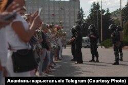 Ланцуг салідарнасьці мэдкаў у Баранавічах 12 жніўня