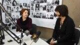 Lilia Carasciuc şi Aneta Grosu, în studioul Europei Libere