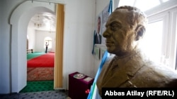 Busts and portraits of former leader Heydar Aliyev can be found across Azerbaijan.