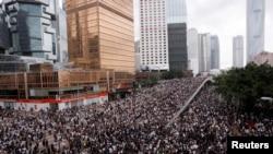 Протест в Гонконге, 12 июня 2019 года.
