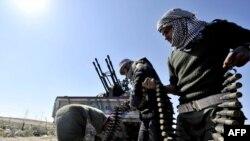 Аждабия шаарындагы козголоңчулар. 23-март, 2011-ж.