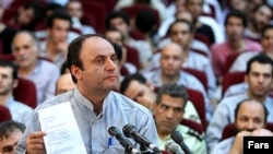 Hossein Rassam at a trial of Iranian election detainees on August 8.