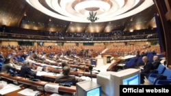 France - A session of the Council of Europe's Parliamentary Assemby in Strasbourg.