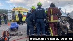 Авария на трассе Симферополь – Ялта, 10 мая 2019 год