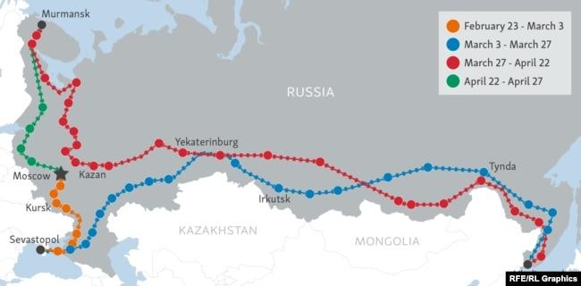 Aboard Russia's Propaganda Train Of 'Syrian War Trophies' on lyubertsy russia map, markovo russia map, tallinn russia map, tula russia map, tikhvin russia map, war russia map, elista russia map, zagorsk russia map, sevastopol russia map, severomorsk russia map, stalingrad russia map, krasnogorsk russia map, ivanovo russia map, nyagan russia map, kirovsk russia map, yurga russia map, kalmykia russia map, donetsk russia map, birobidzhan russia map, ukhta russia map,