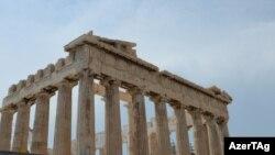 Развалины храма Парфенон, сохранившиеся до наших дней. Греция.