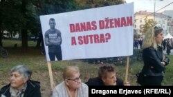 Jedan od transparenata u Sarajevu