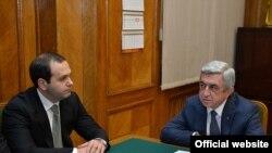 ԱԱԾ տնօրեն Գեորգի Կուտոյան, նախագահ Սերժ Սարգսյան