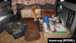 Продукти, які не пустили до Криму «айдарівці»