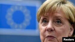 Գերմանիայի կանցլեր Անգելա Մերկելը ԵՄ գագաթնաժողովում, Բրյուսել, 28-ը հունիսի, 2016թ․