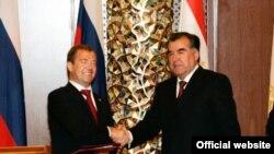 Президенты Таджикистана и России на встрече в Душанбе